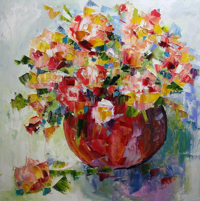 Art: Spring Flowers by Artist Laurie Justus Pace