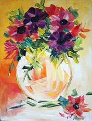 Art: flowers in a vase by Laurie Justus Pace