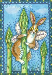 Art: FB -  OH JOY OF SPRING ASPARAGUS  by Artist Susan Brack