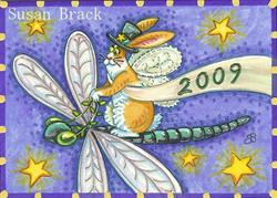 Art: FB -  FLYING IN THE NEW YEAR  by Artist Susan Brack