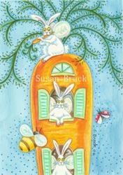 Art: Flutterbun -  CARROT CONDO  by Artist Susan Brack