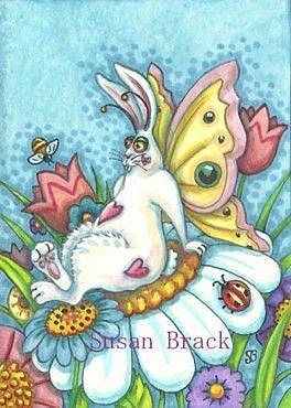 Art: FLUTTERBUN BLISS by Artist Susan Brack