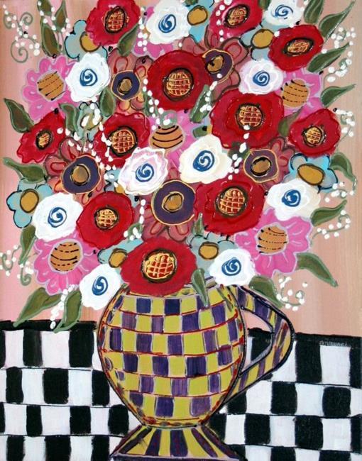 Art: BEAUTIFUL BOUQUET IN A VASE-sold by Artist LUIZA VIZOLI