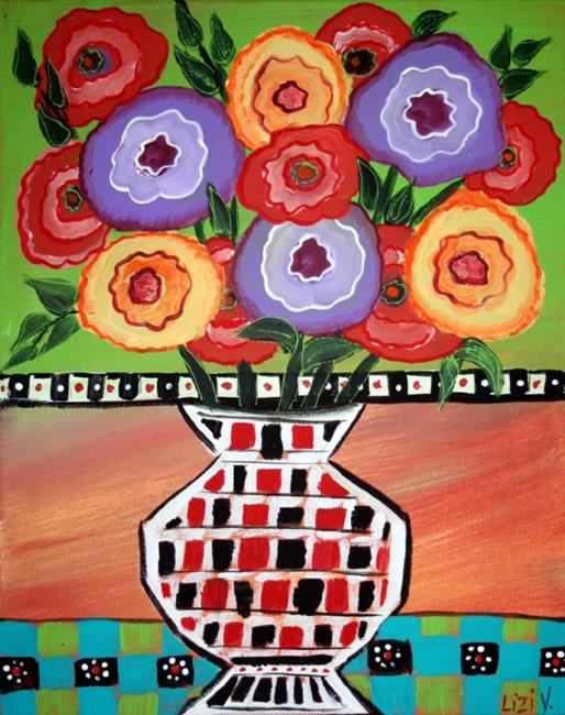 Art: FRESH FLOWERS-sold by Artist LUIZA VIZOLI
