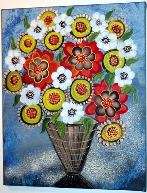 Art: WINTER BOUQUET-sold by Artist LUIZA VIZOLI