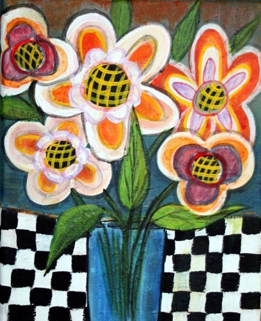 Art: SPRING FLOWERS-sold by Artist LUIZA VIZOLI