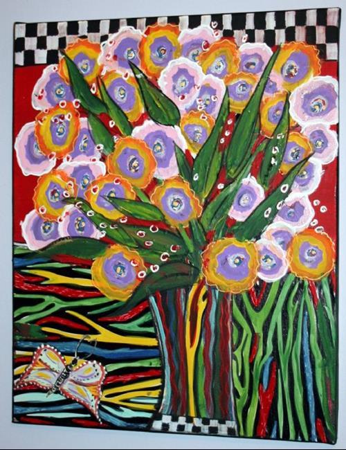 Art: THE ROSES-sold by Artist LUIZA VIZOLI