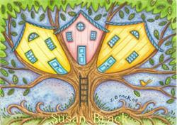 Art: THE TREE HOUSE OF LIFE by Artist Susan Brack