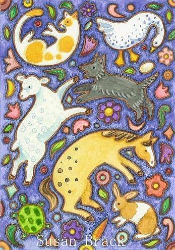 Art: ANIMAL SOUP II by Artist Susan Brack