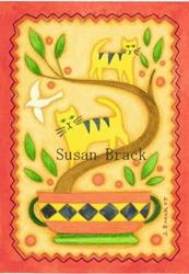 Art: FRAKTUR CATS 2 by Artist Susan Brack