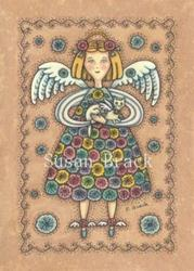 Art: YO YO QUILT ANGEL by Artist Susan Brack