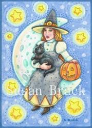 Art: LUNETTE AND KITTEN by Artist Susan Brack