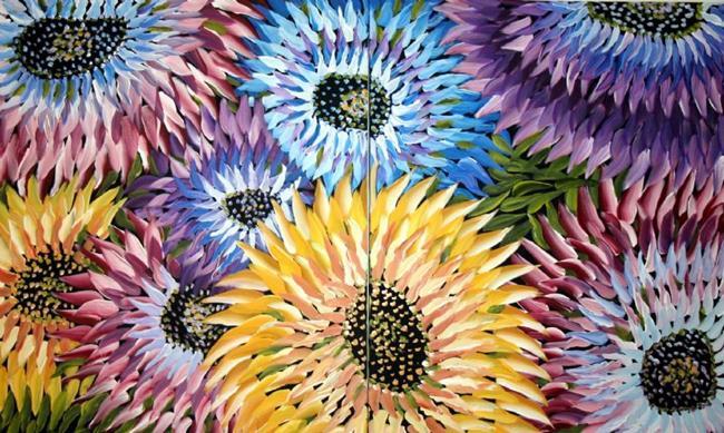 Art: SUMMER FLOWERS-sold by Artist LUIZA VIZOLI
