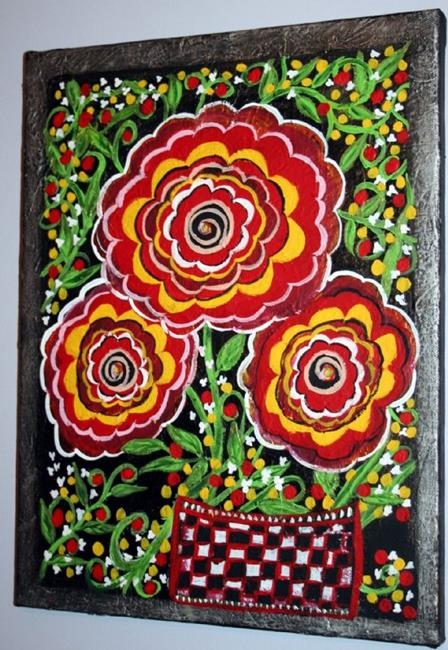 Art: ROSES-sold by Artist LUIZA VIZOLI