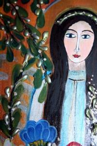Detail Image for art ANGEL AND FLOWERS-sold