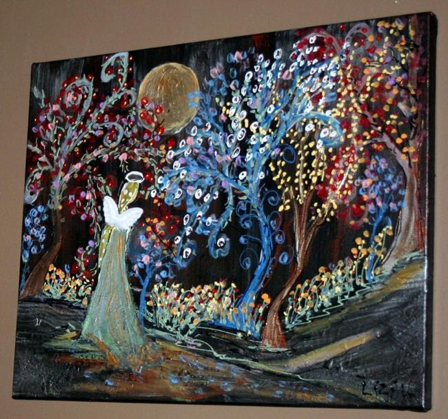 Art: FLOWERS, TREES, ANGEL, EDEN GARDEN-sold by Artist LUIZA VIZOLI