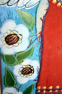Detail Image for art THE LITTLE ANGEL-wine cheese board-sold