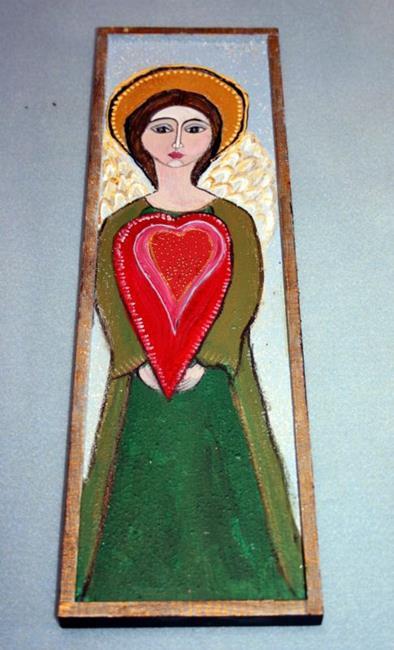 Art: PROTECTIVE ANGEL-sold by Artist LUIZA VIZOLI