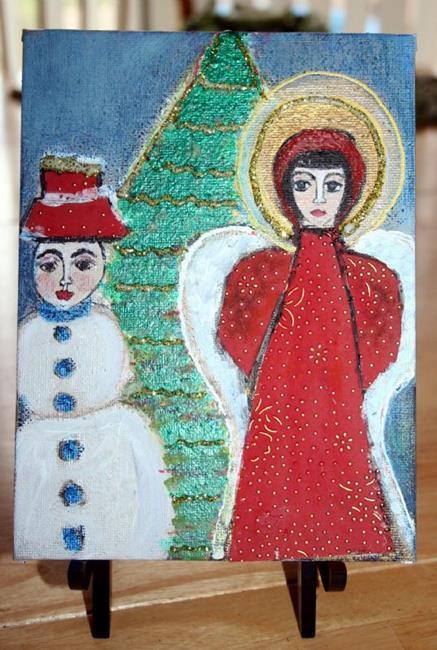 Art: ANGEL FOR CHRISTMAS-sold by Artist LUIZA VIZOLI