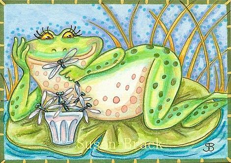 Art: DRAGONFLY BOUQUET FROM SECRET ADMIRER by Artist Susan Brack