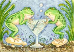 Art: DRAGONFLY MARTINI by Artist Susan Brack