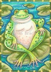 Art: BULLFROG GRIN by Artist Susan Brack