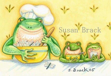 Art: DRAGONFLY MUNCHIES by Artist Susan Brack