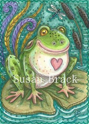 Art: FROG SONG by Artist Susan Brack