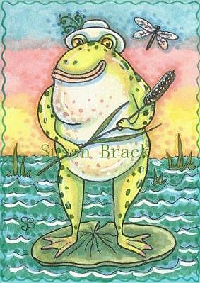 Art: BULLFROG by Artist Susan Brack