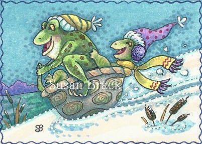 Art: TURTLE TOBOGGAN by Artist Susan Brack