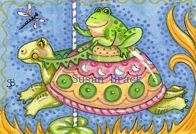 Art: CAROUSEL ON TURTLE POND by Artist Susan Brack