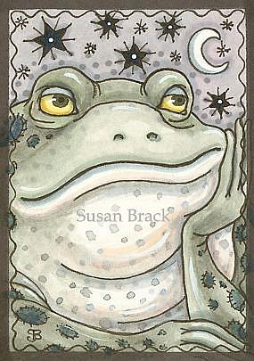 Art: GOTH BULLFROG by Artist Susan Brack