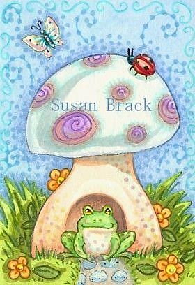 Art: TOADSTOOL #2 by Artist Susan Brack