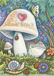 Art: A TOAD'S EYE VIEW by Artist Susan Brack