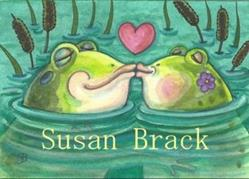 Art: FROGGY WENT A COURTING by Artist Susan Brack