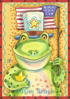 Art: HOPPY INDEPENDENCE DAY by Artist Susan Brack