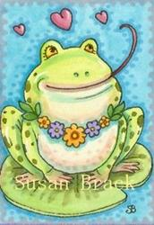 Art: FROGGY AND HEARTS by Artist Susan Brack