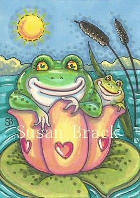 Art: LILY PAD MATES by Artist Susan Brack