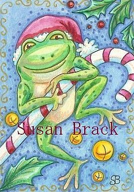 Art: CHRISTMAS FROGGY by Artist Susan Brack