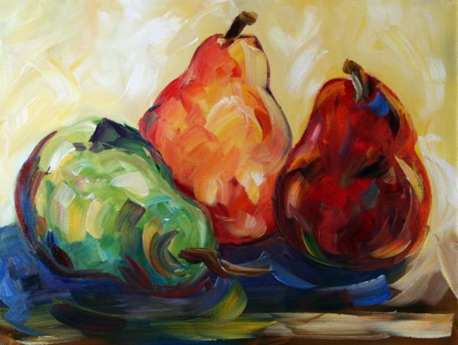 Art: Three Pears From Rachelle by Artist Laurie Justus Pace