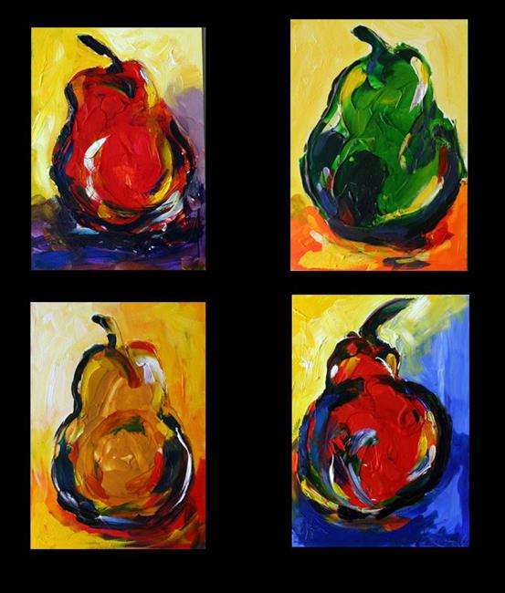 Art: Four Pears November by Artist Laurie Justus Pace