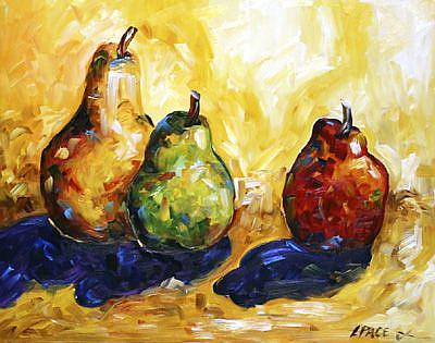 Art: Three Pears August 2006 by Artist Laurie Justus Pace