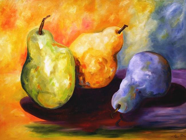 Art: Large Pears by Artist Laurie Justus Pace
