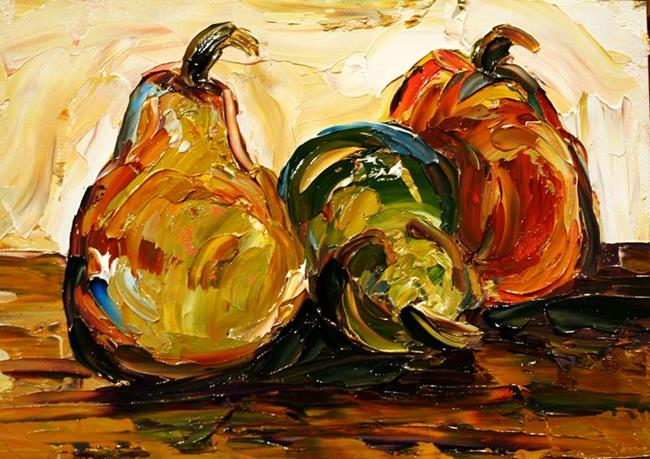 Art: Tiny Pears 2 November by Artist Laurie Justus Pace