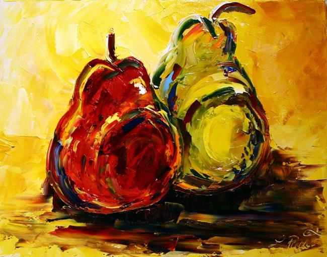 Art: Christmas Pears by Artist Laurie Justus Pace