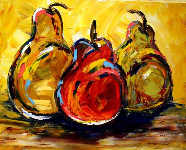 Art: ST Nicholas Pears for the Stockings by Artist Laurie Justus Pace