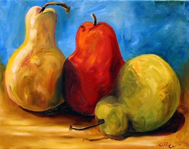 Art: Pears Three January by Artist Laurie Justus Pace