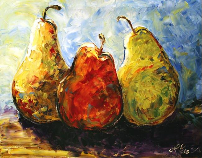 Art:  Fruit Pear Study Pears Three by Artist Laurie Justus Pace