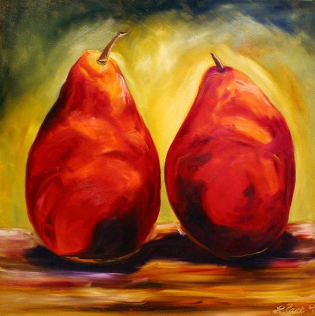 Art: Two Pear Red by Artist Laurie Justus Pace