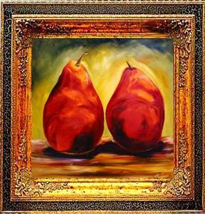 Detail Image for art Two Pear Red